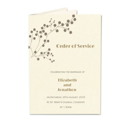 The Barn Order of Service