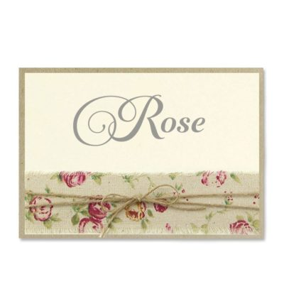 Antique Rose Table Name / Number