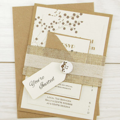 The Barn Parcel Wedding Invitation