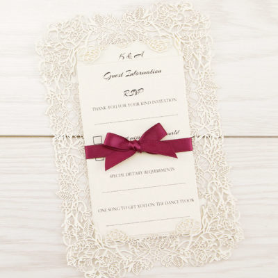Love Always Laser Cut Wedding Invitation