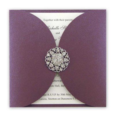 Violet Two Petal Wrap