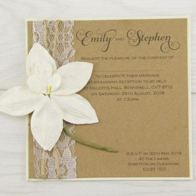 Angel Orchid Evening Invitation