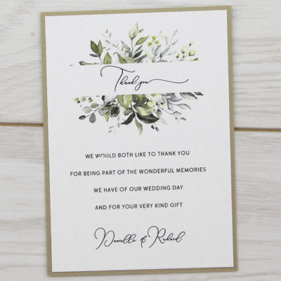 Bryony Greenery Thank you Card