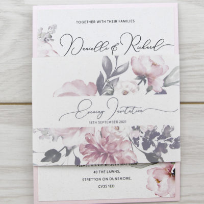 Bryony Pinks Parcel Wedding Invitation